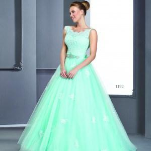 #1192 scoop neck ball gowns