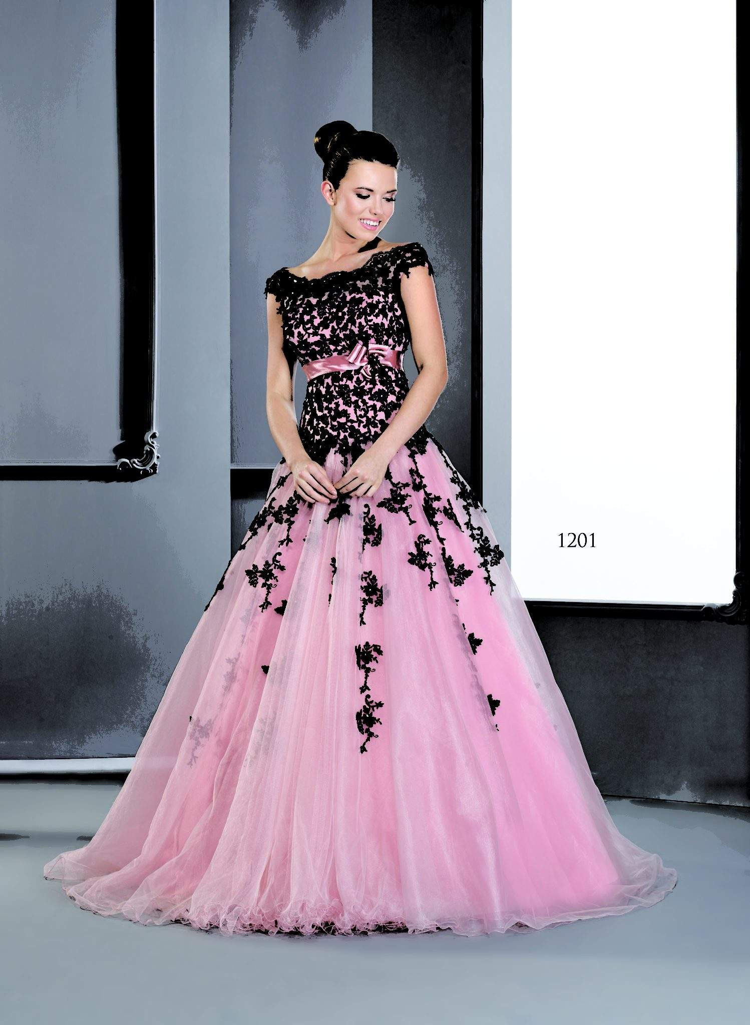 Pink Ball Gowns with Sleeves
