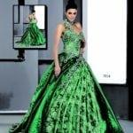 emerald green ball gowns