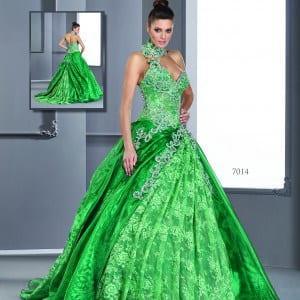 emerald green ball gowns