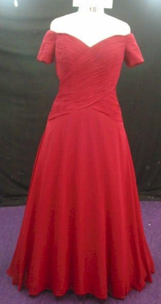 Red Plus Size Mutter Braut Kleider von Darius Cordell von Texas