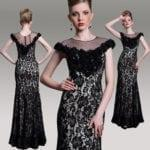 Black Mother of Bride Evening Dresses