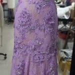 purple lace evening dresses