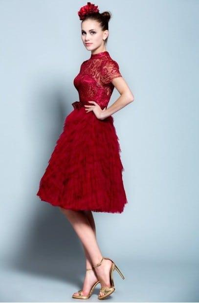 Red Lace Cocktail Dresses - Darius Cordell Fashion Ltd