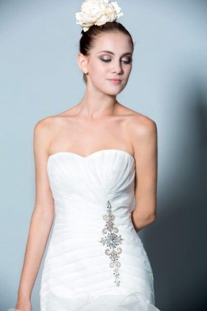 Strapless Ruffled Bridal Gowns from Darius Couture Bridal