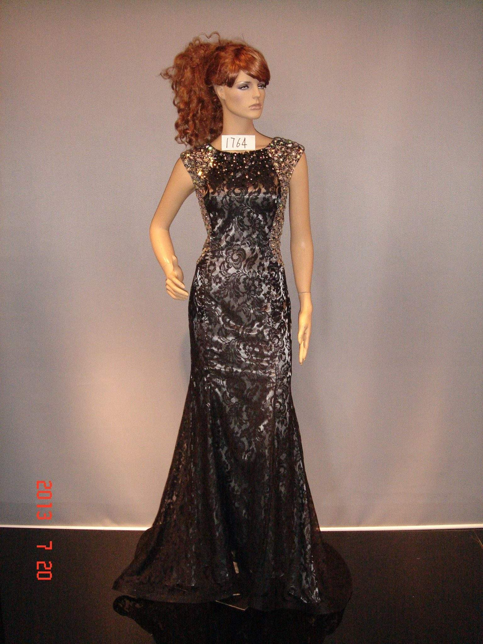 Black Lace Evening Gowns for Mothers of the Wedding