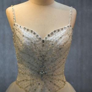 Style #KAGio - basque waist wedding gowns with spaghetti straps