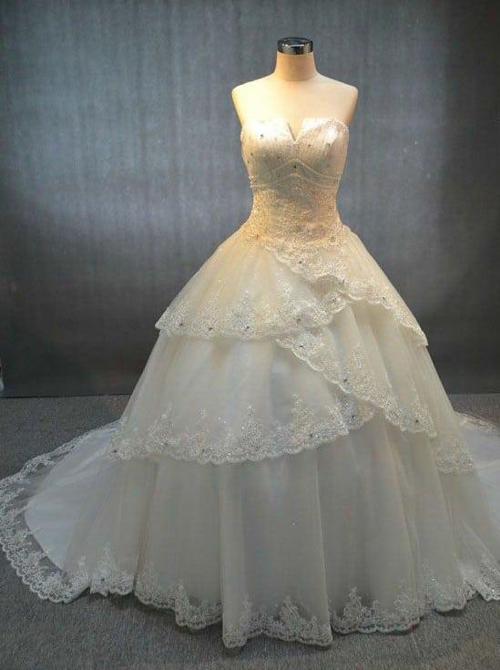 Tiered Wedding Gowns - Darius Cordell Fashion Ltd