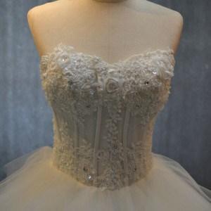 Corset Bodice Organza Wedding Gowns