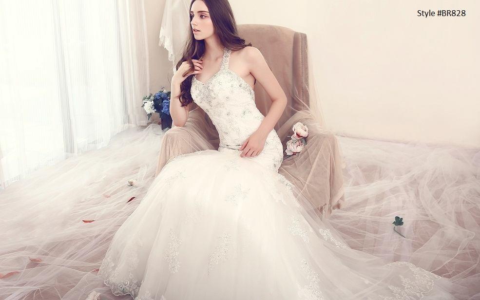 Inexpensive Halter Bridal Dresses - Darius Cordell Fashion Ltd