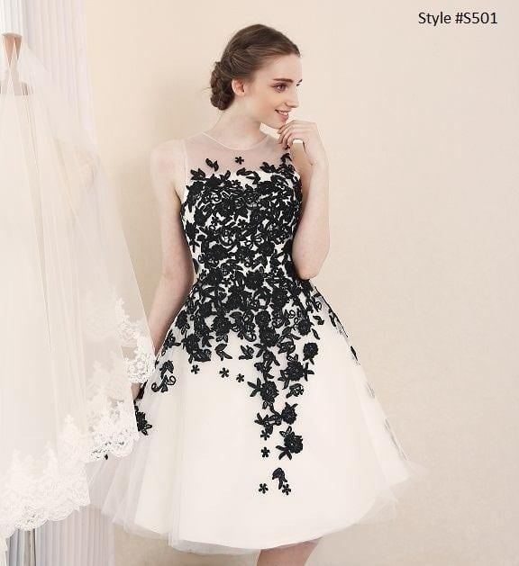 Black white wedding reception dresses darius cordell short black white wedding reception dresses junglespirit