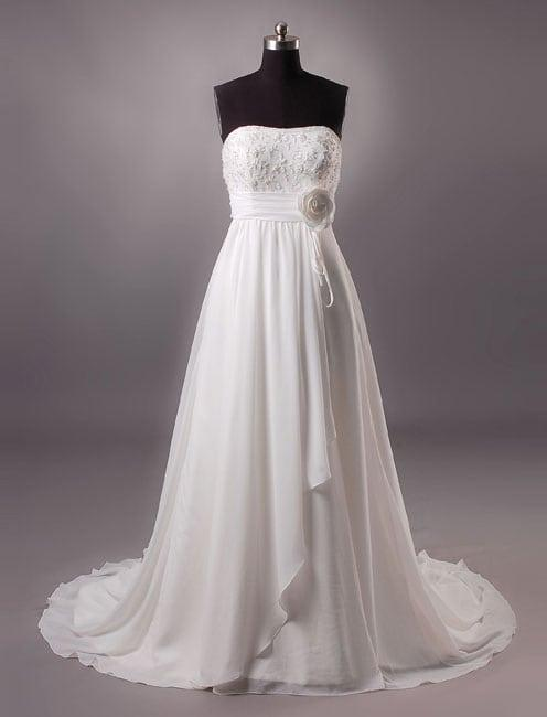 Maternity bridal gowns darius cordell fashion ltd for Empire waist plus size wedding dress