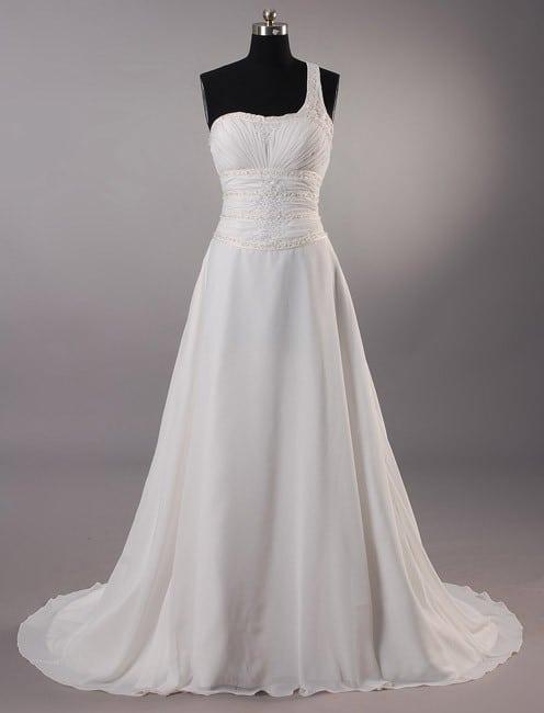 One Shoulder Plus Size Wedding Gowns - Darius Cordell Fashion Ltd