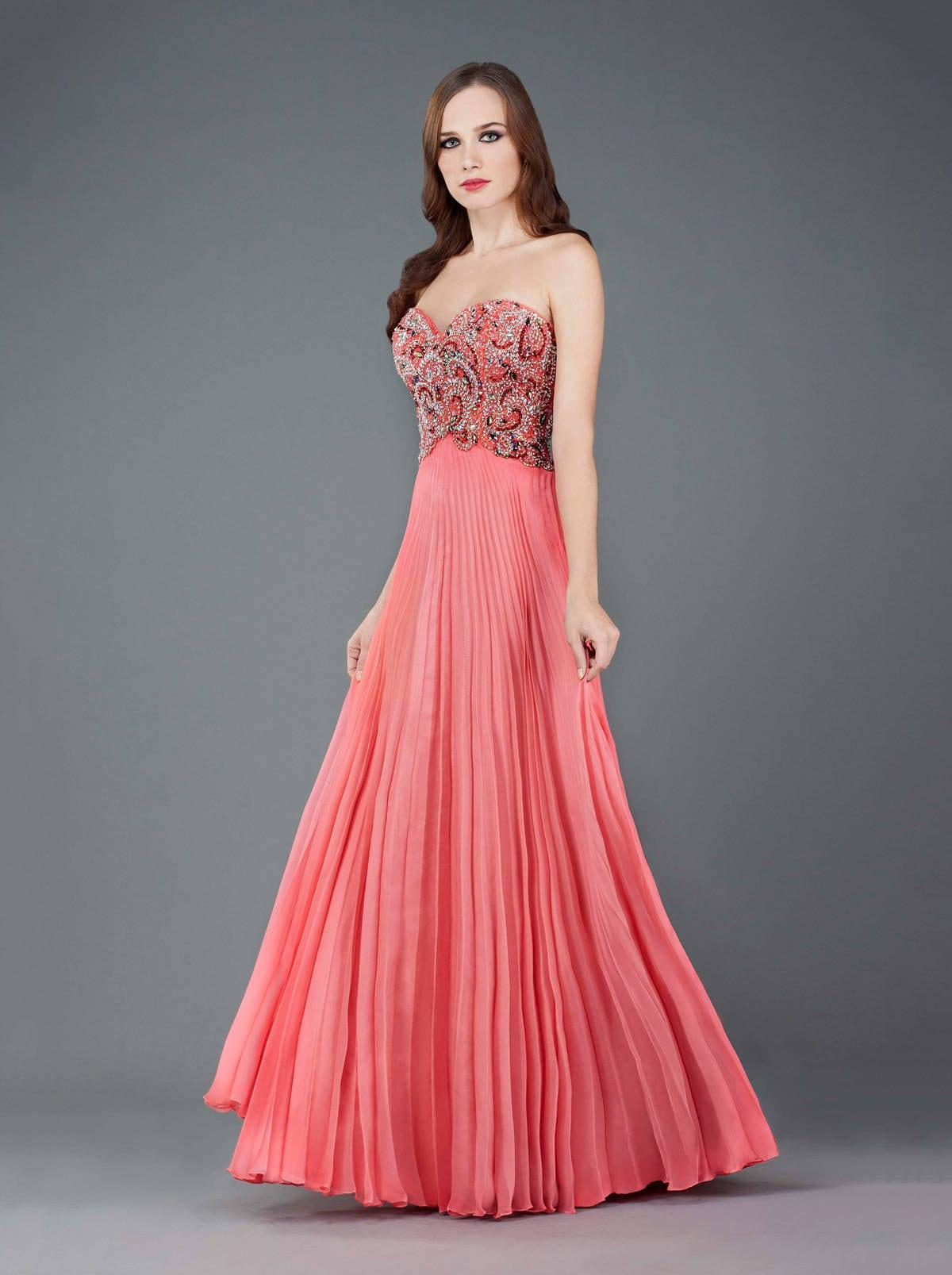 Vestidos de noche de gasa plisada - Darius Cordell Fashion Ltd