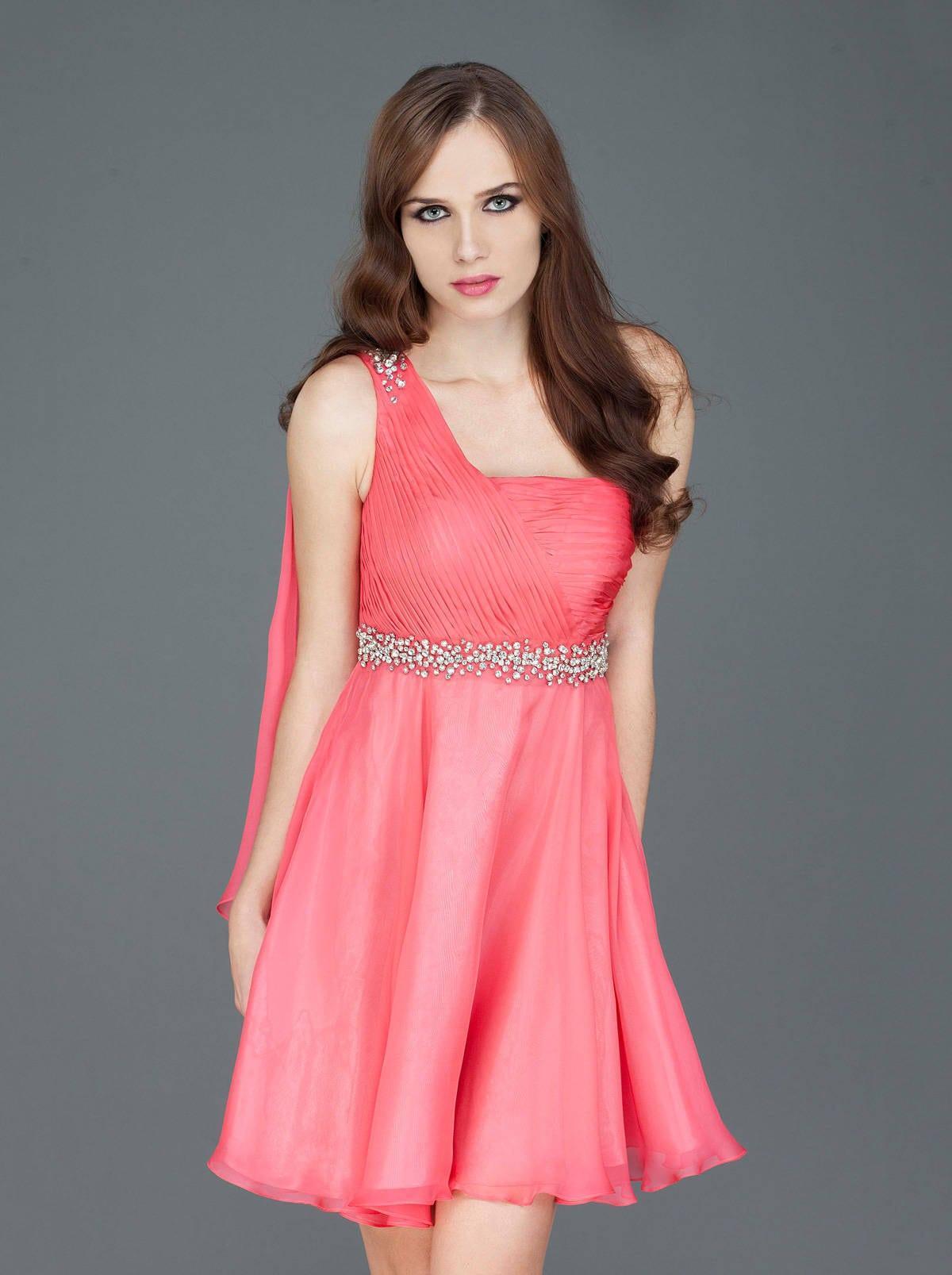 Vestido rosa pastel para la madre de la novia