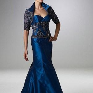 Style 2017-S322 Blue Beaded Evening Gowns with Jacket for Mother of Bride