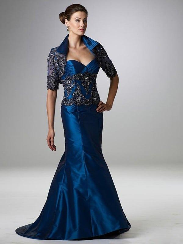 Sapphire Blue Evening Gowns For Mother Of The Bride By Darius