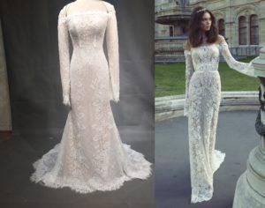 Elainne - Replica of long sleeve lace wedding dress - darius cordell