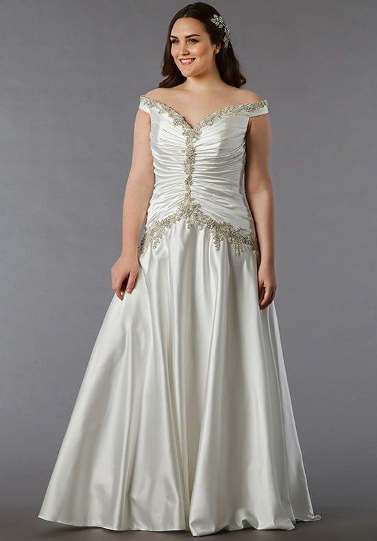 Aus der Schulter Plus Size Brautkleider - Darius Cordell