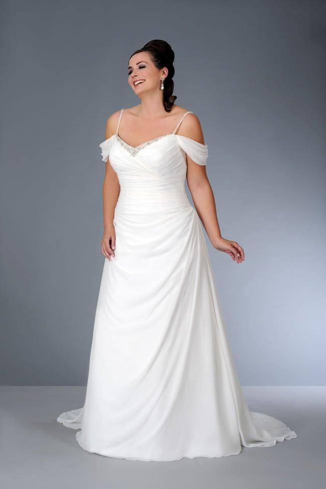 Spaghetti strap plus size wedding dress from the darius for Plus size wedding dresses with straps