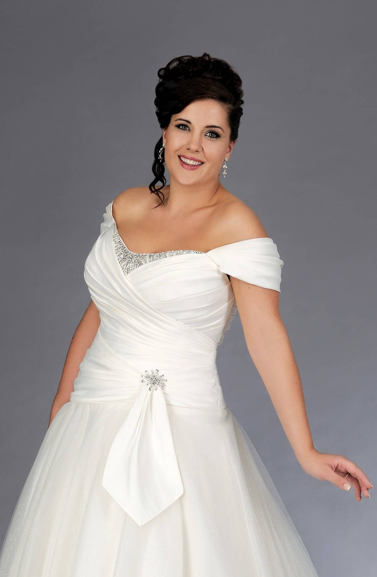f The Shoulder Wedding Ball Gown for Plus Size Brides