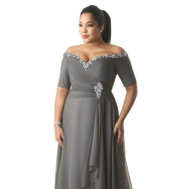 Plus size evening dresses for weddings