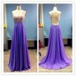 Purple Chiffon Evening Wear gowns