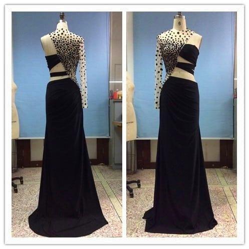 One Arm Pageant Prom Dress One Arm Evening Dresses