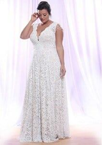 Plus size wedding dresses with Long sleeves by Darius Bridal