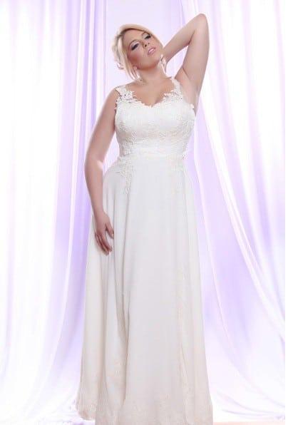 Style #PS1418 - 1750 - Vestido de novia de talla grande con cintas ...