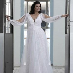 Style #PS1431 - Loose Long Sleeve Wedding Dress for Plus Size Bride