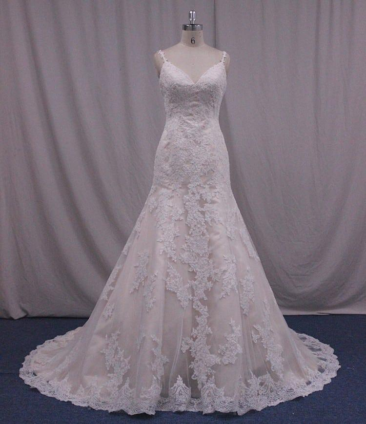 Plus size lace wedding dress with straps from darius bridal for Plus size wedding dresses with straps
