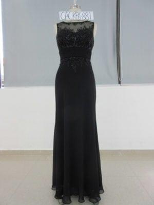 Illusion Ausschnitt formale Kleider - Darius Cordell Fashion Ltd