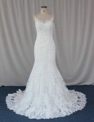 Solid Lace Wedding Dress With Straps Darius Cordell