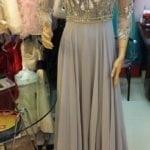 Three quarter sleeve mother of the bride beaded dresses