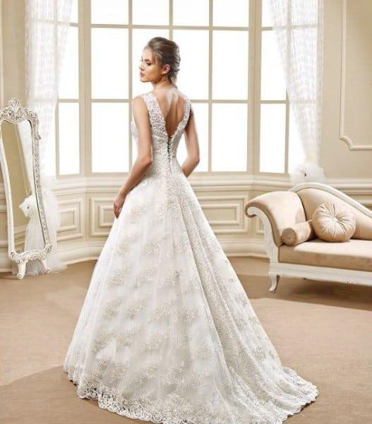 Aline Wedding Gown: Style 5469 Back Of Sleeveless Aline Wedding Gown With