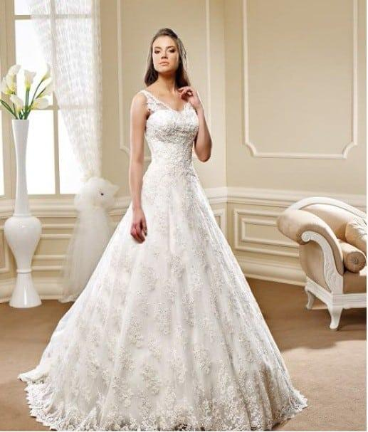 Aline Wedding Gown: Lace Aline Wedding Gowns