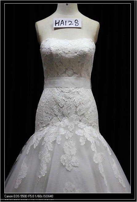 Chantilly lace Wedding gown - Darius Cordell Fashion Ltd