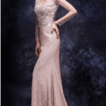 Pink lace Evening Dresses
