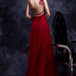 backless red evening gowns