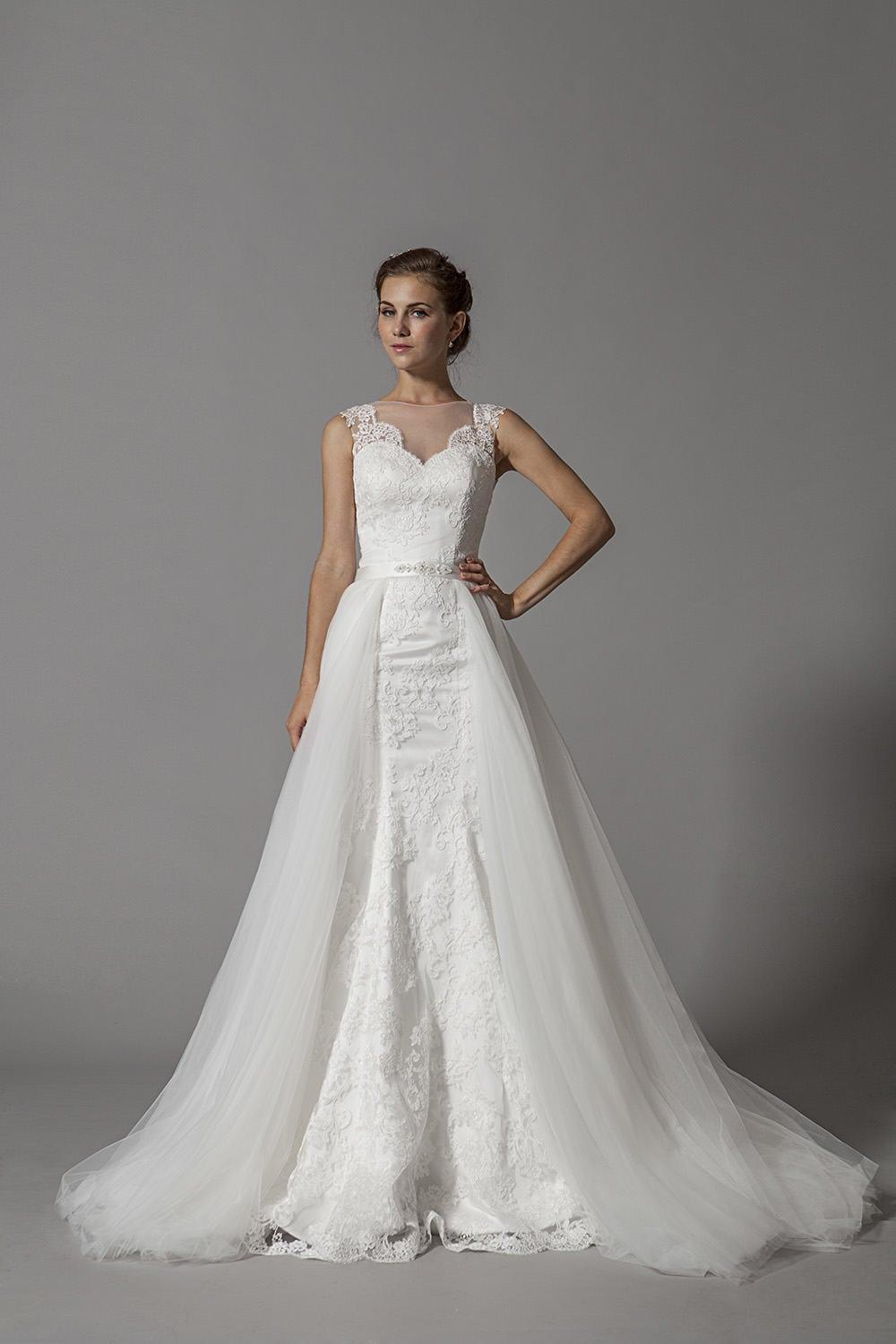 Detachable Train Wedding Dresses Darius Cordell Fashion Ltd