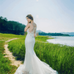 designer wedding dresses with embroidery on the back