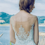 Embroidered Wedding Dresses with sheer backs