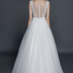 back of sleeveless wedding gown