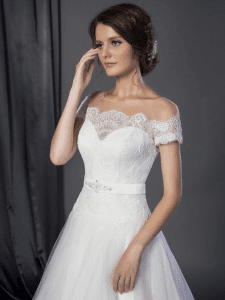 Feminine wedding gowns