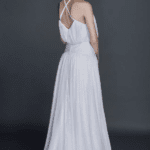 criss cross back wedding gown