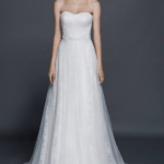 straplessa lineweddinggown
