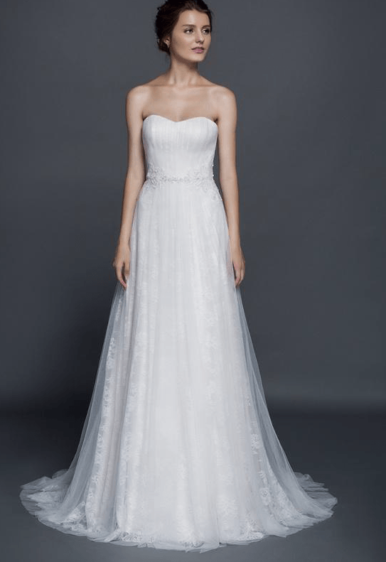 Wedding Gowns With Lace Sleeve Jacket
