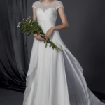 inexpensive beach wedding dresses with cap sleeves