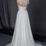 inexpensive lace back wedding gowns